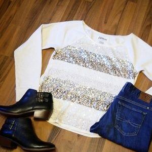 {Express} Sequined Sweatshirt
